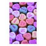 Mensajes del corazón del caramelo fijados papeleria de diseño