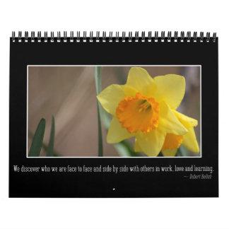 Mensajes del personalizable de la inspiración y de calendarios