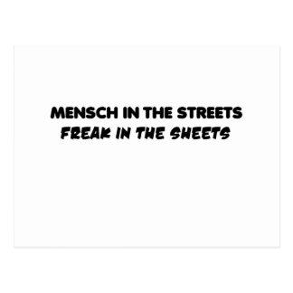 mensch postcard