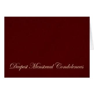 Menstrual Sympathy Greeting Card