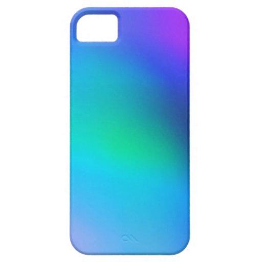 Menta azul de la aguamarina y caja abstracta iPhone 5 funda