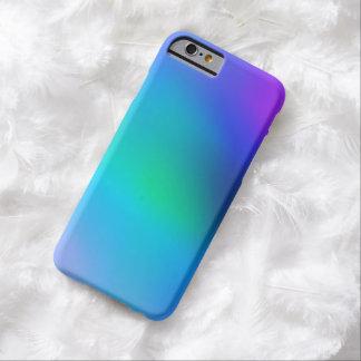 Menta azul de la aguamarina y caja abstracta funda de iPhone 6 barely there