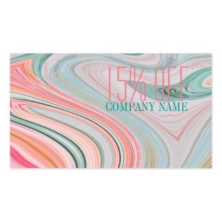 menta coralina de la belleza del pelo de los tarjetas de visita