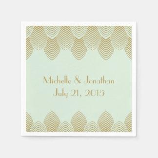 Menta de la servilleta del boda de la concha de servilletas de papel