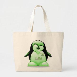 Menta de Linux con el logotipo de Tux Bolsa Tela Grande