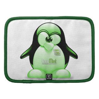 Menta de Linux con el logotipo de Tux Organizador