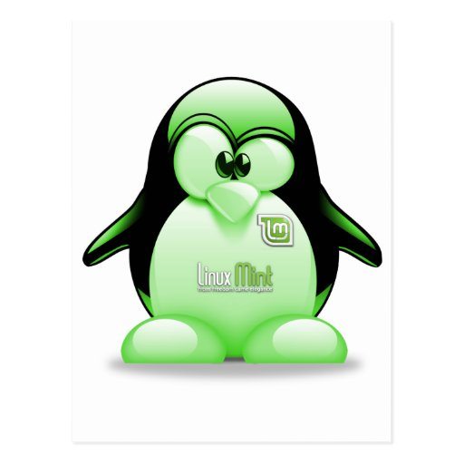 Menta de Linux con el logotipo de Tux Postal