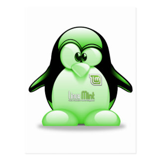 Menta de Linux con el logotipo de Tux Tarjeta Postal