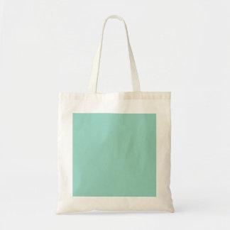 Menta del color sólido bolsa tela barata