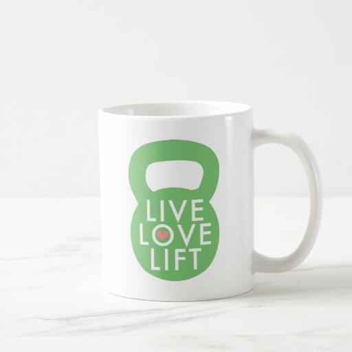 """Menta """"elevación viva del amor """" taza"""