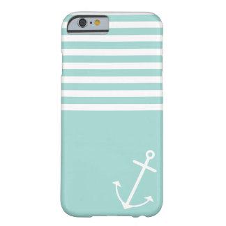 Menta en colores pastel náutica funda de iPhone 6 barely there