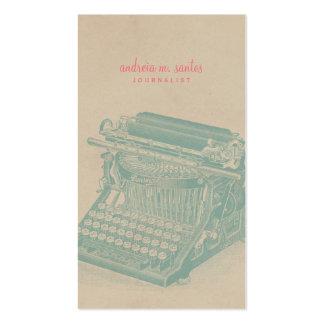 Menta fresca de la máquina de escribir del vintage tarjetas de visita