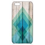 Menta geométrica del iPhone 5 del galón de madera