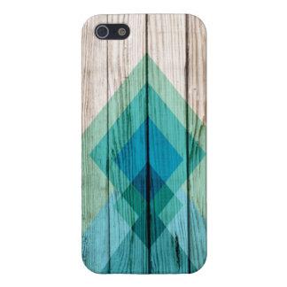 Menta geométrica del iPhone 5 del galón de madera  iPhone 5 Fundas