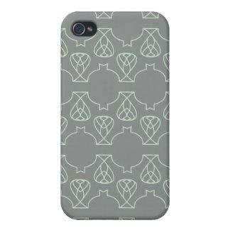 Menta gris de Avante Garde iPhone 4 Cárcasas