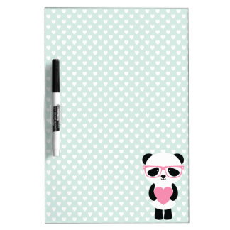 Menta linda/rosa de la panda tableros blancos