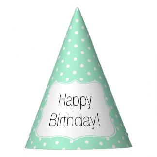 Menta mágica y fiesta de cumpleaños blanca del gorro de fiesta