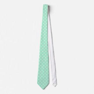 Menta mágica y modelo de lunar blanco corbata personalizada