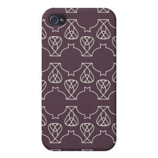 Menta púrpura de Avante Garde iPhone 4 Funda