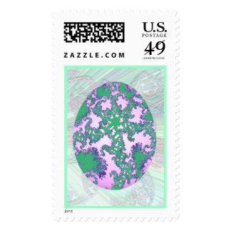 Menta rosada y huevo pintado púrpura envio