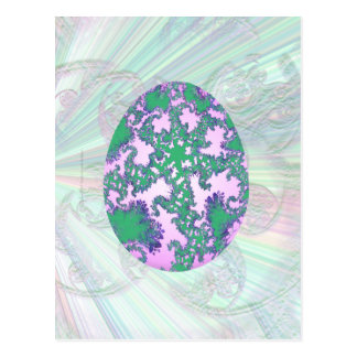 Menta rosada y huevo pintado púrpura tarjetas postales
