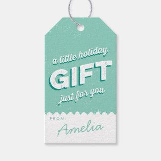 Menta y blanco del día de fiesta del estilo del etiquetas para regalos
