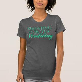 Menta y el sudar gris para el boda. Camiseta