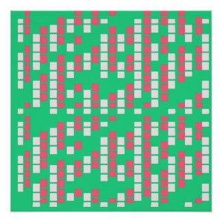 Menta y matriz rosada perfect poster