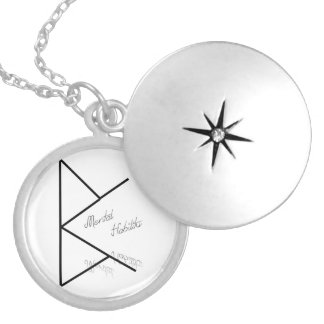 Mental ability round locket necklace
