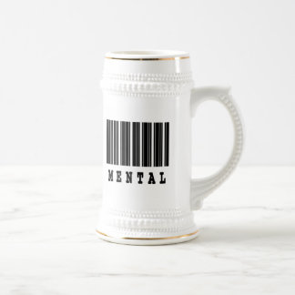 mental barcode design coffee mug