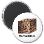 Mental Block Fridge Magnet