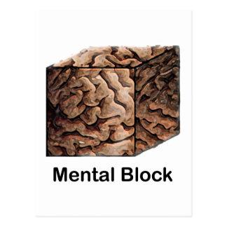 Mental Block Postcard