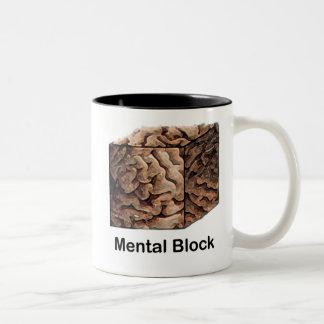 Mental Block Two-Tone Coffee Mug