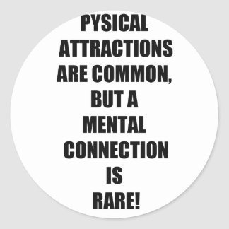 Mental Connections Classic Round Sticker