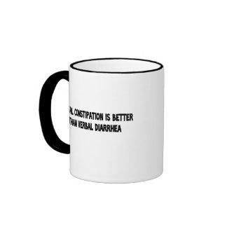 mental constipation ringer coffee mug