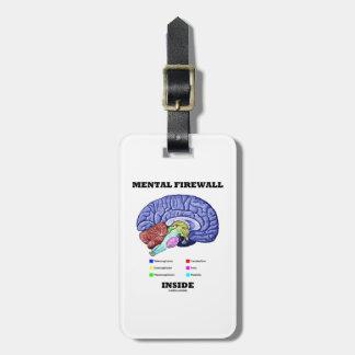Mental Firewall Inside (Anatomical Brain) Bag Tag