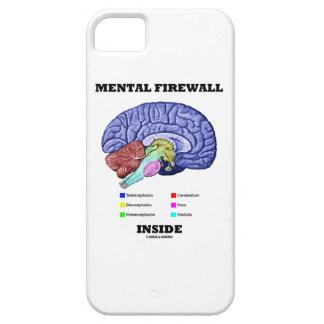 Mental Firewall Inside (Anatomical Brain) iPhone 5 Cases