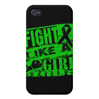 Mental Health Awareness BurnOut Fight Like a Girl iPhone 4 Cases