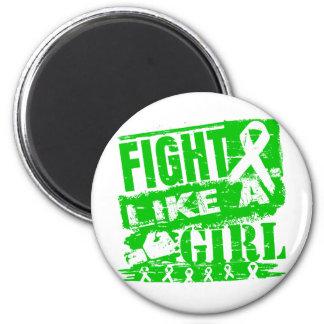 Mental Health Awareness BurnOut Fight Like a Girl Fridge Magnet