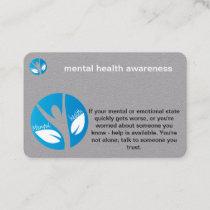 mental health awareness business card