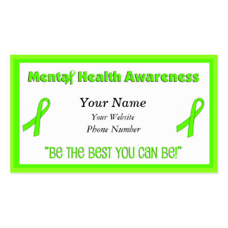 Mental Health Awareness Business Cards