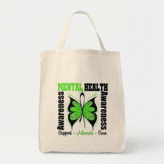 Mental Health Awareness - Butterfly Canvas Bag
