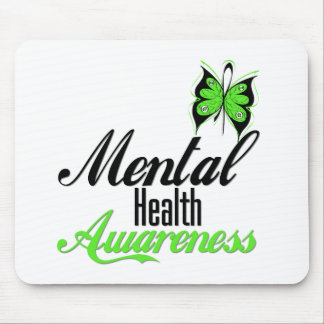 Mental Health Awareness Butterfly Mouse Pad