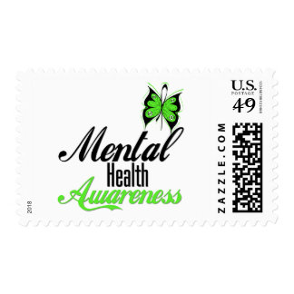 Mental Health Awareness Butterfly Postage Stamp