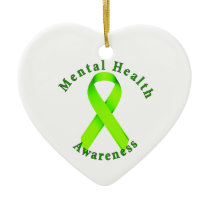 Mental Health Awareness Ceramic Ornament