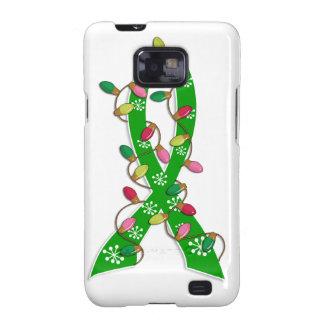 Mental Health Awareness Christmas Lights Ribbon Samsung Galaxy S2 Cases