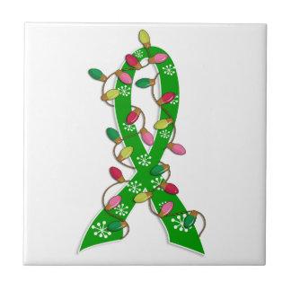 Mental Health Awareness Christmas Lights Ribbon Tiles