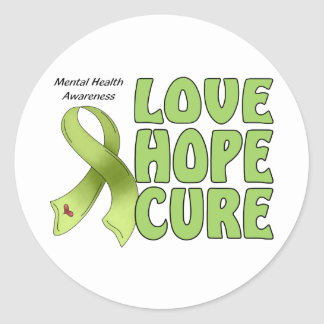 Mental Health Awareness Classic Round Sticker