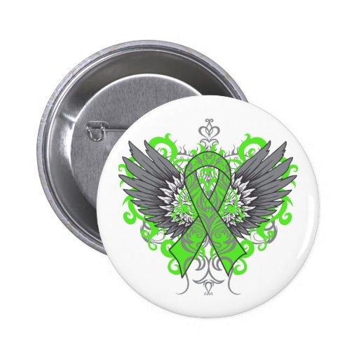 Mental Health Awareness Cool Wings Pinback Buttons