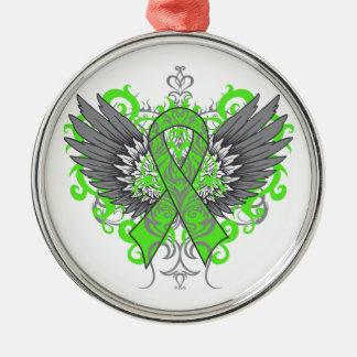 Mental Health Awareness Cool Wings Christmas Tree Ornament